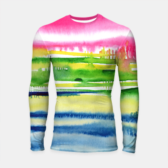 Thumbnail image of Abstract Longsleeve Rashguard , Live Heroes