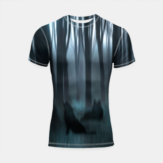 Thumbnail image of Shadows Shortsleeve Rashguard, Live Heroes