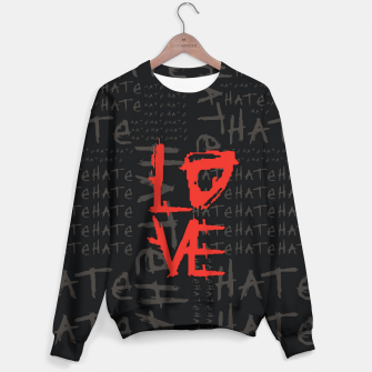 Thumbnail image of hate & love Sudadera, Live Heroes