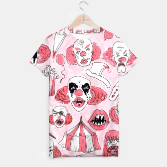 Thumbnail image of halloween clown pattern T-shirt, Live Heroes