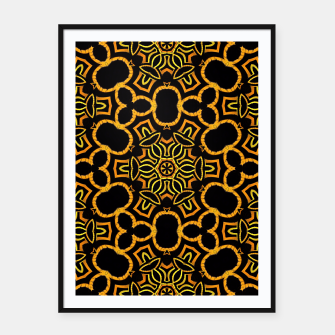 Thumbnail image of Yellow-Gold-Black Pattern Framed poster, Live Heroes