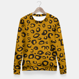 Thumbnail image of Golden Leopard Fitted Waist Sweater, Live Heroes