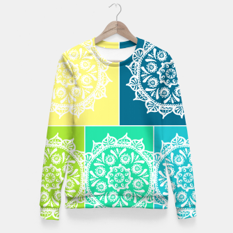 Thumbnail image of Brosya Mandala Palette Fitted Waist Sweater, Live Heroes