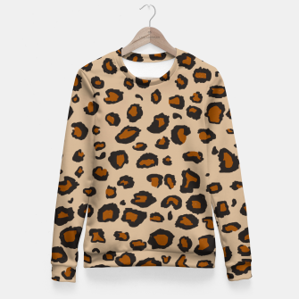 Thumbnail image of Leopard Print Fitted Waist Sweater, Live Heroes