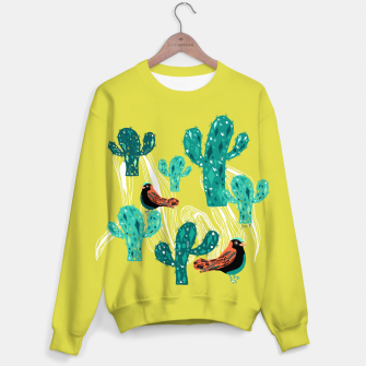 Miniature de image de cactus and birds Sweater, Live Heroes