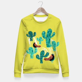 Miniature de image de cactus and birds Fitted Waist Sweater, Live Heroes