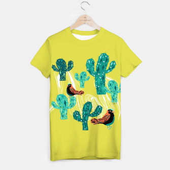 Miniature de image de cactus and birds T-shirt, Live Heroes