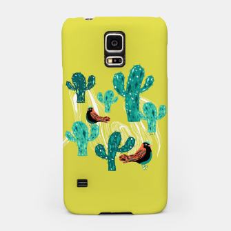 Miniature de image de cactus and birds Samsung Case, Live Heroes