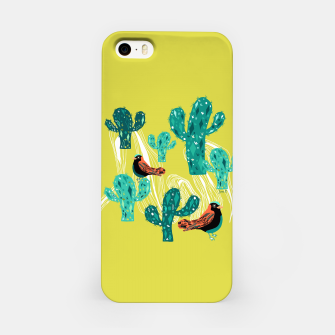 Miniature de image de cactus and birds iPhone Case, Live Heroes