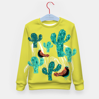 Miniature de image de cactus and birds Kid's Sweater, Live Heroes