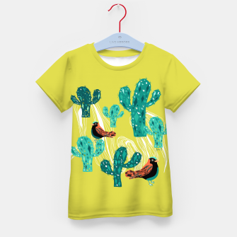 Miniature de image de cactus and birds Kid's T-shirt, Live Heroes