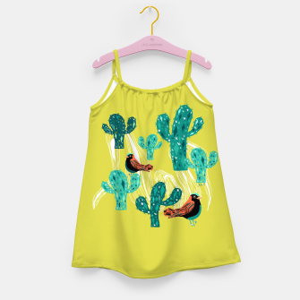 Miniature de image de cactus and birds Girl's Dress, Live Heroes