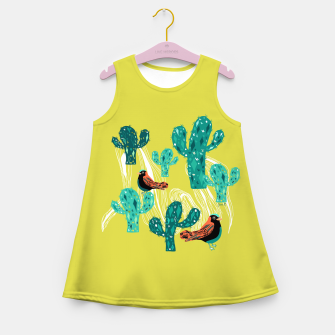 Miniature de image de cactus and birds Girl's Summer Dress, Live Heroes
