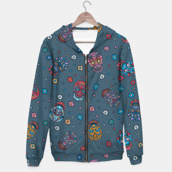 Thumbnail image of Floral skull mexican pattern Hoodie, Live Heroes