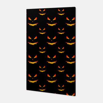 Thumbnail image of Cool and scary Jack O'Lantern face Halloween pattern Canvas, Live Heroes
