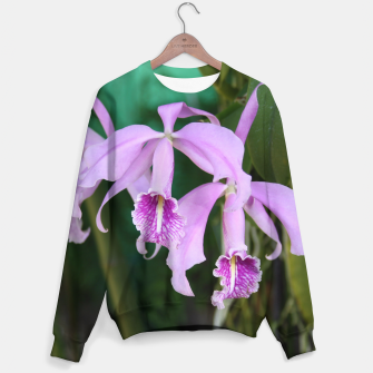 Thumbnail image of Tropical Flowers Orchids Sweater, Live Heroes