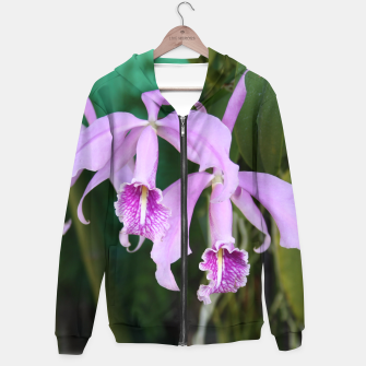 Thumbnail image of Tropical Flowers Orchids Hoodie, Live Heroes