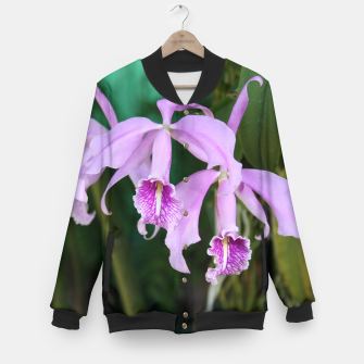 Thumbnail image of Tropical Flowers Orchids Baseball Jacket, Live Heroes