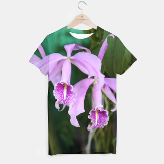 Thumbnail image of Tropical Flowers Orchids T-shirt, Live Heroes