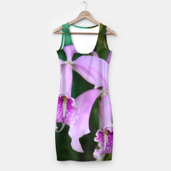 Thumbnail image of Tropical Flowers Orchids Simple Dress, Live Heroes