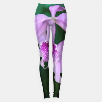 Thumbnail image of Tropical Flowers Orchids Leggings, Live Heroes