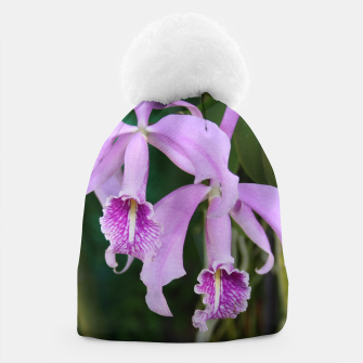 Thumbnail image of Tropical Flowers Orchids Beanie, Live Heroes