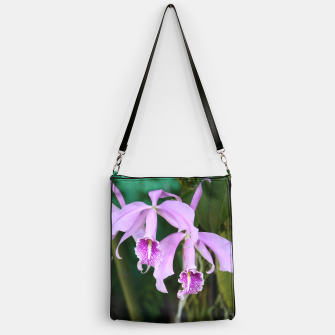 Thumbnail image of Tropical Flowers Orchids Handbag, Live Heroes