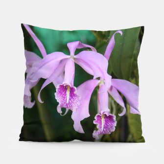 Thumbnail image of Tropical Flowers Orchids Pillow, Live Heroes