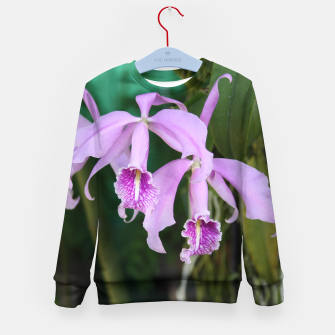 Thumbnail image of Tropical Flowers Orchids Kid's Sweater, Live Heroes