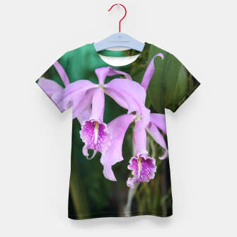 Thumbnail image of Tropical Flowers Orchids Kid's T-shirt, Live Heroes