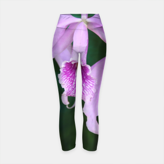 Thumbnail image of Tropical Flowers Orchids Yoga Pants, Live Heroes