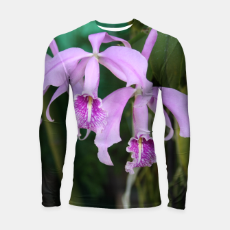 Thumbnail image of Tropical Flowers Orchids Longsleeve Rashguard , Live Heroes