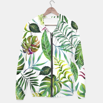 Thumbnail image of Tropical Flora  Hoodie, Live Heroes
