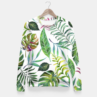 Thumbnail image of Tropical Flora  Fitted Waist Sweater, Live Heroes