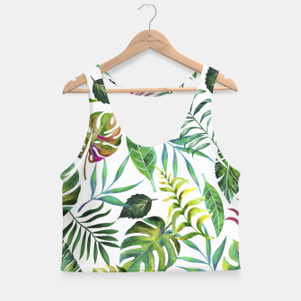 Thumbnail image of Tropical Flora Crop Top, Live Heroes