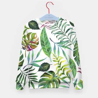 Thumbnail image of Tropical Flora Kid's Sweater, Live Heroes