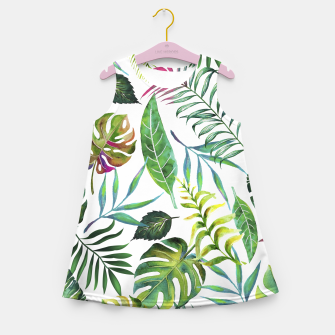 Thumbnail image of Tropical Flora  Girl's Summer Dress, Live Heroes