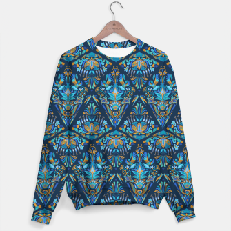 Miniatur Floral bird tribal geometric pattern Sweater, Live Heroes
