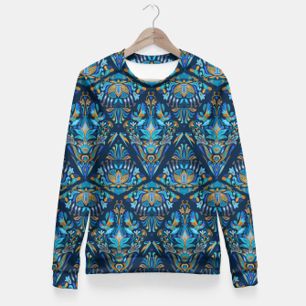 Miniatur Floral bird tribal geometric pattern Fitted Waist Sweater, Live Heroes