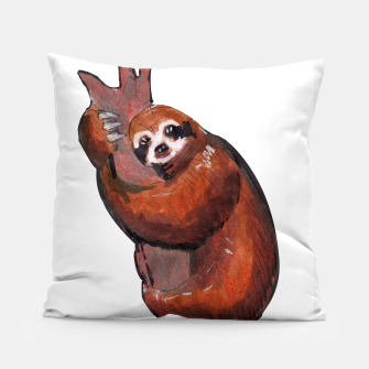 Thumbnail image of sloth Pillow, Live Heroes