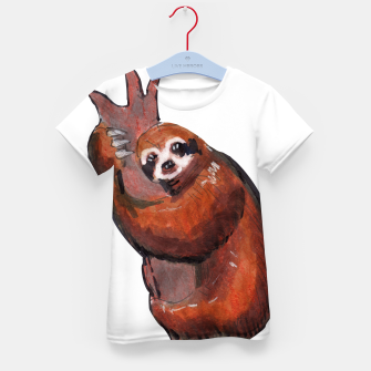 Thumbnail image of sloth Kid's T-shirt, Live Heroes