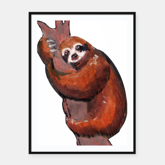 Thumbnail image of sloth Framed poster, Live Heroes