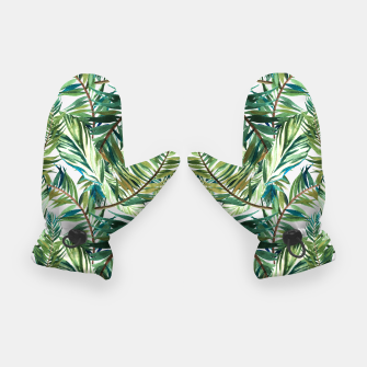 Thumbnail image of Leaf the jungle watercolor pattern Guantes, Live Heroes