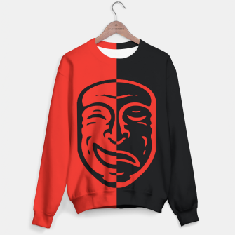 Thumbnail image of two faces Sudadera, Live Heroes