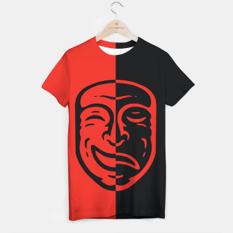 Thumbnail image of two faces Camiseta, Live Heroes