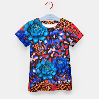 Thumbnail image of Bright floral Kid's T-shirt, Live Heroes