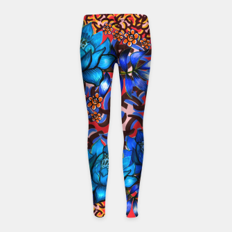 Thumbnail image of Bright floral Girl's Leggings, Live Heroes