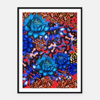 Thumbnail image of Bright floral Framed poster, Live Heroes