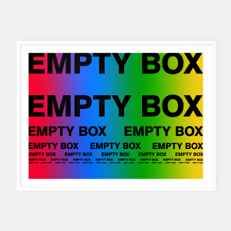 Thumbnail image of EMPTY BOX 2.0 Full Color Edition Framed poster, Live Heroes
