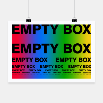 Thumbnail image of EMPTY BOX 2.0 Full Color Edition Poster, Live Heroes